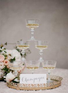 Plum Pretty Sugar - Vintage champagne glasses