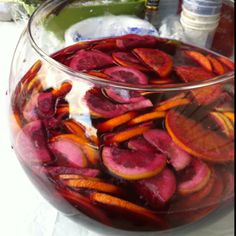 The BEST sangria recipe I've been able to hone to perfection! If you like a sweeter Sangria, use ginger ale in place of club soda. Refreshing Drinks, Summer Drinks, Cocktail Drinks, Fun Drinks, Summer Bbq, Alcoholic Beverages, Best Sangria Recipe, Homemade Sangria, Red Sangria Recipes