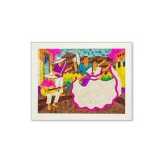 NOVICA Nicaraguan Corn Husk Collage of Folk Dancers and Musicians ($575) ❤ liked on Polyvore featuring home, home decor, wall art, wall decor, novica home decor, spanish home decor, girls wall art and novica