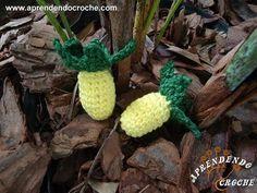 Mini Fruta - Abacaxi em Croche - Aprendendo Crochê - YouTube