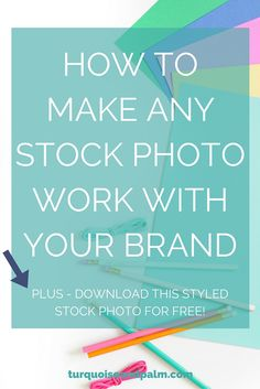 How to Make Any Stock Photo Work With Your Brand | Sick of finding the perfect stock photo but realizing it doesn't match your brand?  Click through to watch this video and learn an easy trick to make any stock photo match your branding!  Also, you get this stock photo for free!