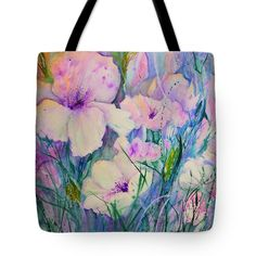 Spring Flower Medley pink and purple Tote Bag for Sale by Sabina Von Arx