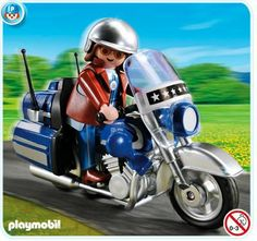 Playmobil 5114 - Touring Motorcycle with Rider by Playmobil. $14.99. Set includes one figure, motorcycle, and helmet.. Manufacturer Age Recommendation: 4+ Years. Playmobil - Touring Motorcycle with Rider  Take a cross-country road trip with this blue Touring Motorcycle, the second in a series of six collectible sets. Set includes one figure, motorcycle, and helmet.  Part of the Playmobil System.