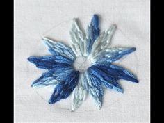 Hand Embroidery: Flower with Lazy Daisy and Straight Stitch - YouTube