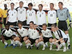 Germany finished in 3rd place... Here's their national team.  A soccer tradition