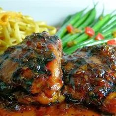 Shoyu Chicken - Shoyu Chicken is a popular Hawaiian dish. It is often served with rice. The word shoyu is Japanese for soy sauce. Let the chicken soak in the marinade for at least an hour, the longer the better
