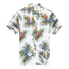 online shopping for Made Hawaii Men's Hawaiian Shirt Aloha Shirt Parrots Leaf Black from top store. See new offer for Made Hawaii Men's Hawaiian Shirt Aloha Shirt Parrots Leaf Black Hawaiian Pattern, Tropical Pattern, Mens Hawaiian Shirts, Aloha Shirt, Mens Fashion, Fashion Outfits, Fashion Ideas, Casual Outfits, Fashion Trends