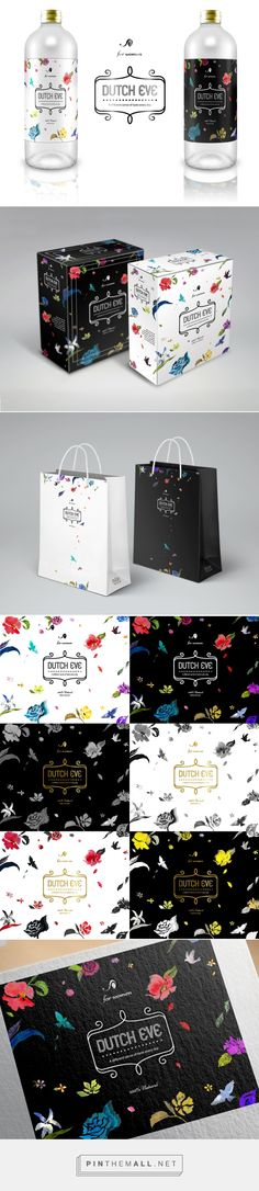 DUTCH COFFEE flowers pattern package 더치커피 꽃 패턴 패키지 on Behance by Sura Jo Seoul, Korea, Republic of curated by Packaging Diva PD.  Flowers pattern packaging design for women. Branding, pattern design.