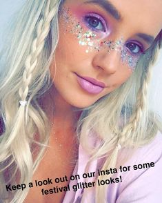 festival makeup – Hair and beauty tips, tricks and tutorials Festival Looks, Festival Make Up, Festival Mode, Rave Festival, Festival Outfits, Festival Fashion, Festival Style, Rave Eye Makeup, Kesha Makeup