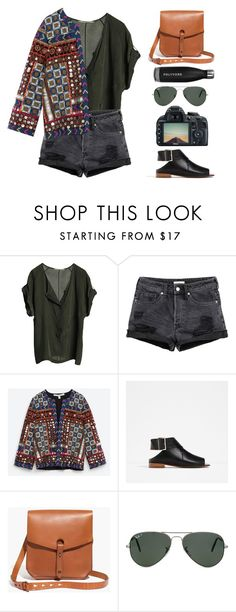 """N°137"" by yellowgrapes ❤ liked on Polyvore featuring Graumann, Zara, Madewell, Paul Frank and Ray-Ban"