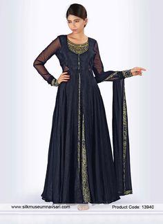Radiant Georgette Diamond Work Reception Designer Gown