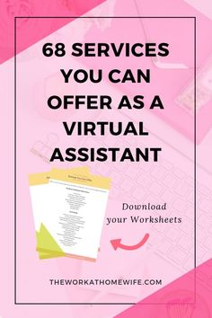 [FREE CHECKLIST] Have you ever thought about becoming a Virtual Assistant? Here is a big list of virtual assistant services you can offer. Earn Money Online, Online Jobs, Online Income, Online Earning, Business Planning, Business Tips, Business Marketing, Online Business, Etsy Business