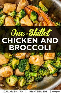 You'll feel great after eating a meal like this healthy one-skillet chicken and broccoli recipe (did I mention the lack of dishes for cleanup afterward?). Try using the leftovers in a whole wheat wrap! #cleaneating #skilletrecipes #dinnerrecipes #easyrecipes #entrees #maindishrecipes #chickenandbroccoli #chickenrecipes #highproteinrecipes #lowcarbrecipes #whole30 #keto #weightwatchers