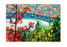 "Daily Paintworks - ""Landscape Study #55"" - Original Fine Art for Sale - © Mandy Budan"