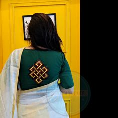 Buy Stitched Embroidered Blouse Online in India Simple Blouse Designs, Stylish Blouse Design, Fancy Blouse Designs, Blouse Neck Designs, Designer Blouse Patterns, Embroidered Blouse, Saree Blouse, Weddingideas, Embroidery Stitches