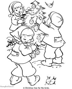 Kid's Free Printable Christmas Tree Coloring Pages!
