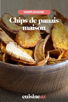 Les chips de panais maison sont faciles à cuisiner et prêtes en 15 minutes. #recette#cuisine#chips#aperitif #apero #legumeancien French Toast, Cereal, Breakfast, Recipes, Clothing, Chips Recipe, Cooking Food, Cooking Recipes, Food