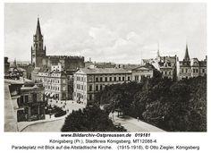 Königsberg, Paradeplatz mit Blick auf die Altstädtische Kirche