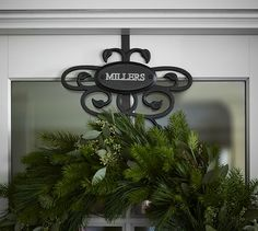 Beautiful scroll wreath hanger - on sale for $29 with free monogramming & free shipping! http://rstyle.me/n/sy8pknyg6