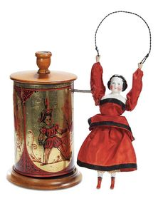 Rare 19th Century  Mechanical Tumbling Doll
