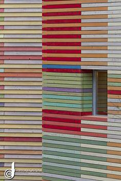 Bois peint - Renzo PIANO - L'AQUILA Auditorium