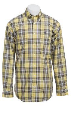 Cinch Long Sleeve Men's Fine Weave Shirt Jean Shirts, Denim Shirt, Work Shirts, Western Shirts, Check Shirt, Summer Men, Soft Summer, Jean Outfits, Men Casual