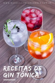 Gin Drinks: 3 Gin Tonic Recipes to Escape the Traditional - Drinks com Gin: 3 Receitas de Gin Tônica para fugir do tradicional Gin Drinks: 3 Gin Tonic Recipes to Escape the Traditional. Bebida Gin, Bar Drinks, Alcoholic Drinks, Aperol Drinks, Drinks Alcohol, Cocktail Gin, Beste Cocktails, Drink Tags, Gin Recipes