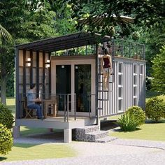 Shipping Container Home Designs, Shipping Container House Plans, Container House Design, Small House Design, Container Shop, Storage Container Homes, Shipping Container Interior, Shipping Container Store, Converted Shipping Containers