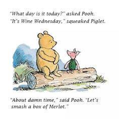 """""""What day is it today?' asked Pooh. """"It's the day we burn the patriarchy to the ground,"""" squeaked Piglet. """"My favorite day."""" said Pooh. Piglet, Pooh Bear, Knitting Humor, Crochet Humor, Funny Crochet, Gym Memes, Funny Memes, Funny Sayings, Hilarious"""