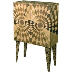Framondi Stereograf Wood Inlay Cabinet ($5,290) ❤ liked on Polyvore featuring home, furniture, storage & shelves, cabinets, inlaid furniture, marquetry furniture, mosaic furniture, woven furniture and inlay furniture
