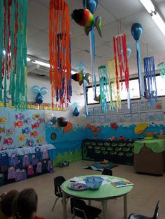 under the sea classroom theme | classroom, the theme that the kids worked on was Under the Sea ...