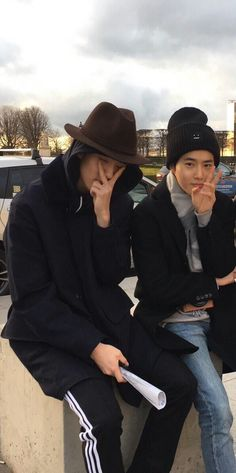 Suho and Sehun in Paris