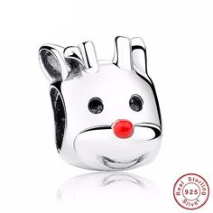 Cheap accessori, Buy Quality accessories coupons directly from China accessories display Suppliers: Authentic 925 Sterling Silver Red Nosed Reindeer Animal Charm Fit Bracelet Necklace amp Jewelry Accessories Panda Dog, Curious Cat, Fitness Bracelet, Red Nosed Reindeer, Beaded Animals, Animal Fashion, Diy Jewelry Making, Jewelry Accessories, Lion