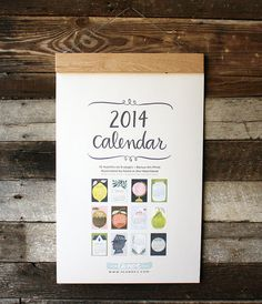 2014 Oversized Wall Calendar DISCOUNTED by 1canoe2 on Etsy