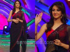 Like the sheer sari+beads Bridal Chuda, Prom Dresses, Formal Dresses, Sari, Beautiful Women, Bridesmaids, Cocktail, Blouses, Wedding