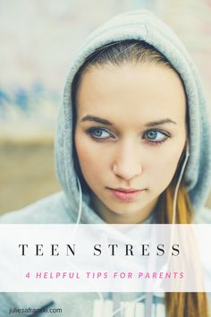 Teen stress is on the rise and here are 4 helpful tips for parents that can help your high schooler feel less overwhelmed.