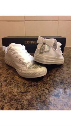 Custom Crystal Diamanté Bling Wedding White by Bitsandbobs2015