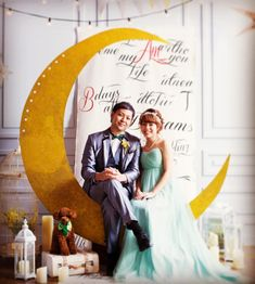 結婚式に飾りたい「お月さま・夜空のフォトブース」まとめ   marry[マリー]