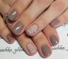 Classy & cute! Perfect work nail colors!