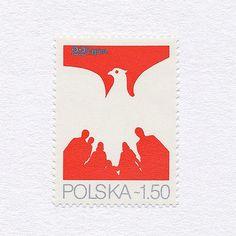 35th Anniversary of the Polish People's Republic (1.50). Poland, 1979. Design: Karol Śliwka. #mnh #graphilately