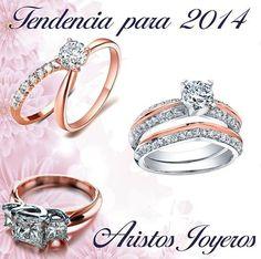 Hermosos anillos en oro rosado y diamantes!