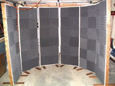 Nice movable sound booth. This would have to sit on carpet, perhaps with a blanket overhang.