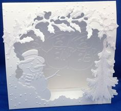 Kaartengalerij - Marianne Design snowman die and winter cut out scene