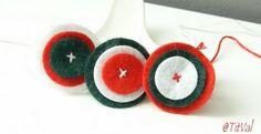 Cocardes en feutrine Crochet Earrings, Blog, March, Felt, Easter, Couture, Spring, Christmas, Gifts