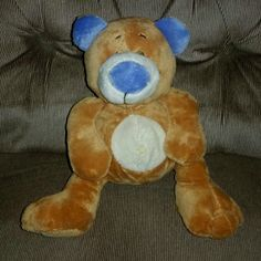 Nuby Luv ' n Care TICKLE TOES BEAR Laughing Giggling Brown Velour 10in Plush #Nuby