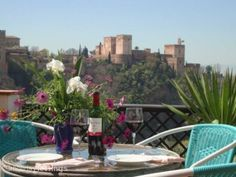 Cant get much closer to culture than a holiday rental with a large terrace with amazing views of the Alhambra Palace. And what a good job this photo does of selling it!