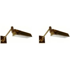 .Signed HANSEN  LAMPS NEW YORK Pair of wall sconces | From a unique collection of antique and modern wall lights and sconces at http://www.1stdibs.com/furniture/lighting/sconces-wall-lights/