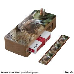 Red-tail Hawk Photo Cribbage Board