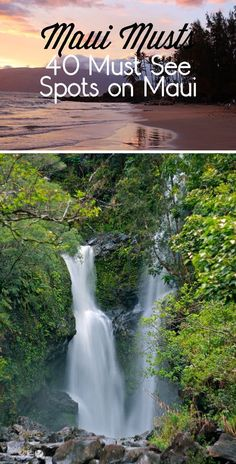 Travel tips and tricks! Maui Musts - 40 Must See Spots on Maui. Whether you're planning a trip to Maui or dreaming of one, you have to check out these beautiful places to visit.
