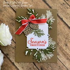 Stampin' Up! Peaceful Boughs Christmas Card Video Tutorial – Stamp It Up with Jaimie